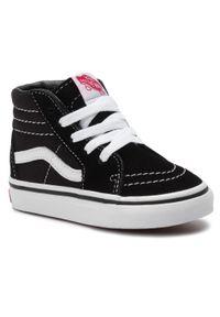 Vans - Sneakersy VANS - Sk8-Hi VN0A3TFX6BT1 Black/True White. Kolor: czarny. Materiał: zamsz, materiał