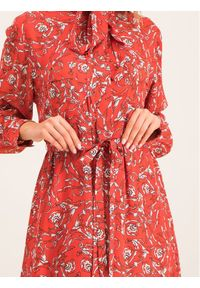 Czerwona sukienka koszulowa Escada Sport sportowa
