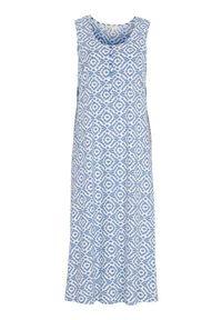 Cellbes Długa koszula nocna we wzory female ze wzorem 34/36. Materiał: bawełna. Długość: długie