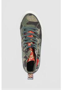Desigual - Trampki. Nosek buta: okrągły. Zapięcie: sznurówki. Kolor: zielony. Materiał: guma
