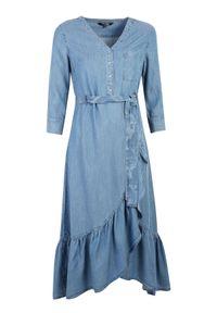 Niebieska sukienka TOP SECRET casualowa, maxi