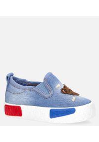 Casu - Niebieskie trampki z gumką casu 20o28/m /7. Kolor: niebieski