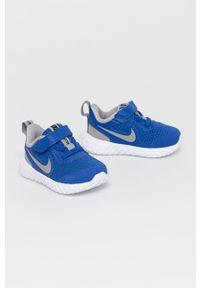 Niebieskie buty sportowe Nike Kids z okrągłym noskiem, Nike Revolution