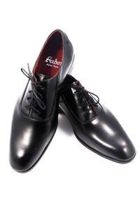 Modini - Wiedenki - oksfordy - czarne obuwie męskie T69. Kolor: czarny. Materiał: skóra. Styl: wizytowy, klasyczny
