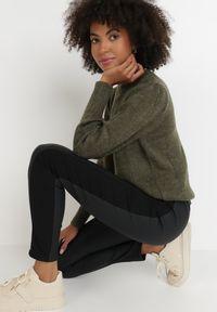 Born2be - Czarne Spodnie Skinny Harmolis. Stan: podwyższony. Kolor: czarny. Materiał: materiał. Długość: długie