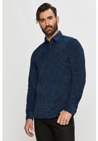 Niebieska koszula JOOP! z klasycznym kołnierzykiem, casualowa, długa, na co dzień