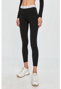 Czarne legginsy Guess Jeans z nadrukiem