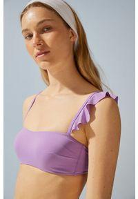 Women Secret - Biustonosz kąpielowy. Kolor: fioletowy. Materiał: dzianina #1