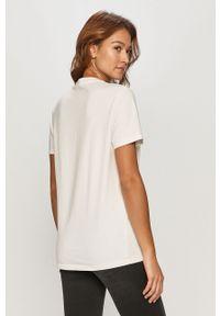 Biała bluzka AllSaints na co dzień, casualowa, z nadrukiem