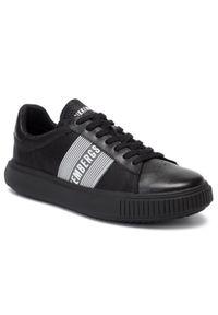 Czarne sneakersy Bikkembergs z cholewką, na co dzień
