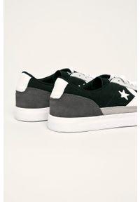 Szare sneakersy Converse z cholewką, na sznurówki