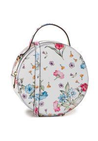 Biała torebka klasyczna Creole w kwiaty, klasyczna