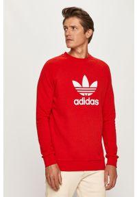 Czerwona bluza nierozpinana adidas Originals na co dzień, z nadrukiem