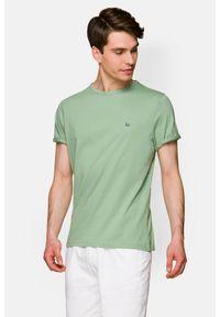Lancerto - Koszulka Jasnozielona Daniel. Okazja: na co dzień. Kolor: zielony. Materiał: włókno, materiał, bawełna. Wzór: aplikacja. Sezon: lato, jesień, wiosna, zima. Styl: klasyczny, casual
