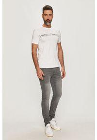 Biały t-shirt Armani Exchange casualowy, na co dzień, z nadrukiem