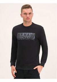 Armani Exchange Bluza 6GZMBQ ZJ1PZ 1200 Czarny Regular Fit. Kolor: czarny