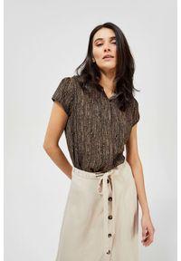MOODO - Koszula z krótkim rękawem. Materiał: wiskoza. Długość rękawa: krótki rękaw. Długość: krótkie