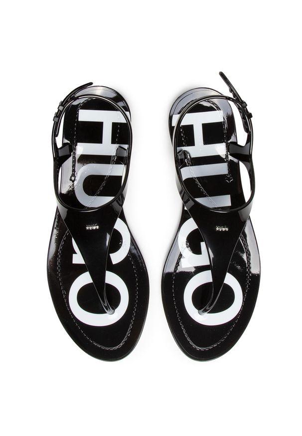 Czarne sandały Hugo