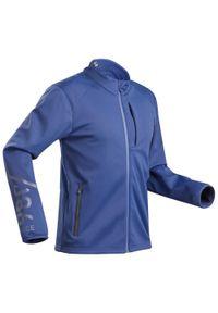 WEDZE - Kurtka narciarska męska Wedze 980. Kolor: niebieski, żółty, wielokolorowy. Materiał: poliester, poliamid, materiał, elastan. Sport: narciarstwo