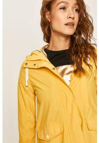 Żółta kurtka ANSWEAR casualowa, z kapturem