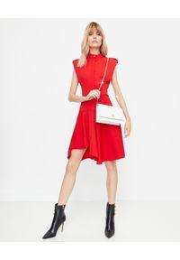 Czerwona sukienka mini Alexander McQueen elegancka, dopasowana
