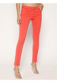Czerwone jeansy slim Emporio Armani