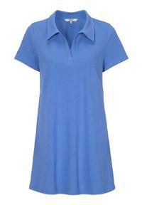 Niebieska tunika Cellbes polo, elegancka