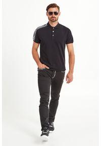 Koszulka polo Just Cavalli w jednolite wzory, sportowa, polo