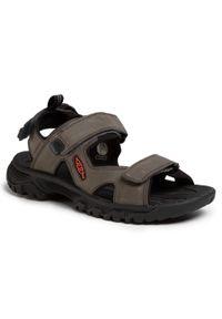 Szare sandały trekkingowe keen na lato, z otwartym noskiem