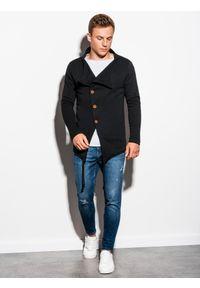 Czarna bluza Ombre Clothing bez kaptura, młodzieżowa