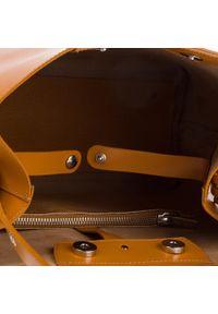 Brązowa torebka klasyczna Bellucci klasyczna
