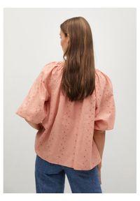 mango - Mango Bluzka Brisbain 87027128 Różowy Regular Fit. Kolor: różowy
