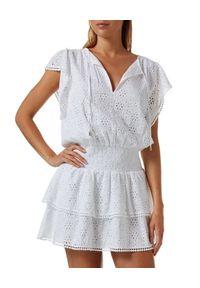 Biała sukienka mini Melissa Odabash