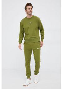 Save The Duck - Spodnie. Kolor: zielony. Materiał: dzianina. Wzór: gładki