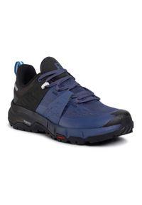 Niebieskie buty do biegania salomon na co dzień, z cholewką