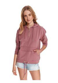 Różowa bluza TOP SECRET z kapturem
