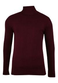 Czerwony sweter Brave Soul elegancki, na zimę, z golfem
