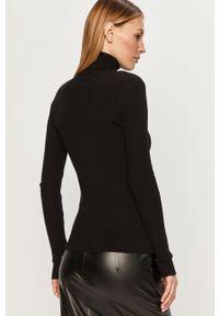Czarny sweter Answear Lab długi, wakacyjny, z długim rękawem, z golfem