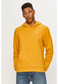 Żółta bluza nierozpinana Fila na co dzień, casualowa, z kapturem