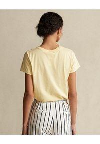 Ralph Lauren - RALPH LAUREN - Żółty t-shirt z logo. Typ kołnierza: polo. Kolor: żółty. Materiał: bawełna #5