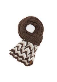 BRODRENE - Szalik damski czekoladowy Brodrene 1010696-CHOCKOLATE. Kolor: brązowy. Materiał: materiał