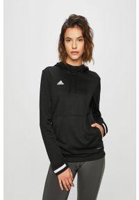 Czarna bluza adidas Performance z nadrukiem, z kapturem, na co dzień, casualowa