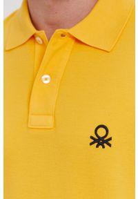 United Colors of Benetton - Polo. Okazja: na co dzień. Typ kołnierza: polo. Kolor: żółty. Długość: krótkie. Styl: casual