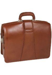 Teczka na laptopa MCKLEIN Harrison 17 cali Brązowy. Kolor: brązowy. Materiał: skóra, materiał. Styl: elegancki, klasyczny