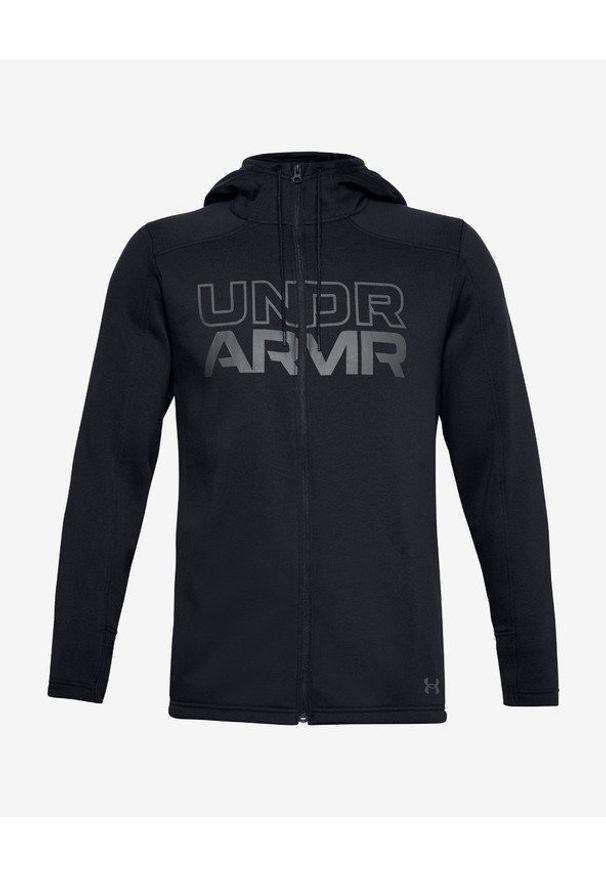 Czarna bluza Under Armour z nadrukiem, długa, z kapturem