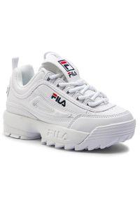 Fila Sneakersy Disruptor Kids 1010567.1FG Biały. Kolor: biały