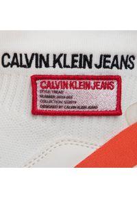 Białe półbuty Calvin Klein Jeans na co dzień, z cholewką, casualowe