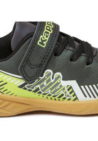 Kappa - Sneakersy KAPPA - Torjager K 260847K Black/Lime. Okazja: na co dzień. Zapięcie: rzepy. Kolor: zielony. Materiał: skóra ekologiczna, skóra. Szerokość cholewki: normalna. Styl: casual