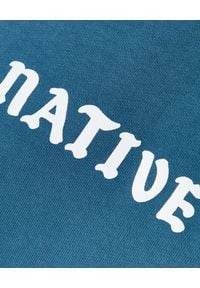 BUSCEMI - Niebieska bluza z haftem. Okazja: na spacer. Kolor: niebieski. Materiał: bawełna, prążkowany. Długość rękawa: długi rękaw. Długość: długie. Wzór: haft