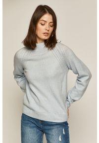 medicine - Medicine - Sweter Basic. Okazja: na co dzień. Kolor: niebieski. Długość rękawa: raglanowy rękaw. Styl: casual